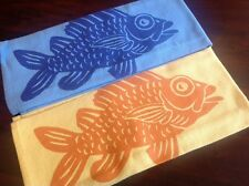 Made in Hawaii Kitchen Towel set lint free100% Cotton NEW blue yellow fish aloha