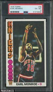 1976 Topps Basketball #98 Earl Monroe New York Knicks HOF PSA 6 EX-MT
