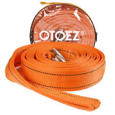 """Heavy Duty Recovery Tow Rope Strap w/ Safety Hooks 13,000 Lb Capacity 2"""" X 20'"""