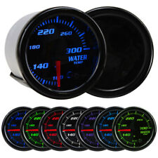 "Universal 2"" 52mm 7 Color LED Car Water Temperature Gauge Temp Meter 100~300℉ US"