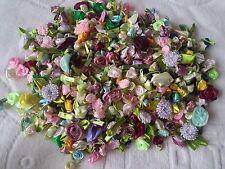 New 500PCS/LOT Mini Satin Ribbon Flowers Bows Rose Sewing Wedding Appliques MIX