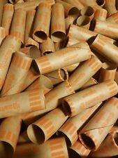 100 Pack Coin-Tainer Quarter $10 Wrappers Preformed Tubular Paper Coin Rolls