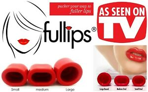 Fullips Original Lip Plumper Enhancer Beauty Tool in Small / Medium Oval & Large