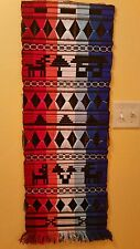 Vintage Woven Wall Hanging Southwestern Unique Art Tapestry Vivid  Multicolored