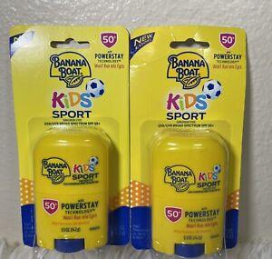 Lot 2 Banana Boat Kids Sport Performance Sunscreen 0.5oz Stick SPF50 12/21 1/23