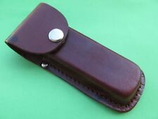 100% Genuine leather Pouch Folding Pocket Knife Hunting Belt Sheath 13cm * 3.5cm