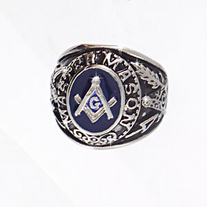 Free mason Ring Masonic Stainles Steel Freemason Men Ring Silver Color