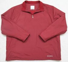 Fiama Golf Half Zip Pullover Rain Jacket Coat Large 105 Burgundy Red Men's Man