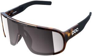 POC Aspire Sunglasses - Tortoise Brown, Violet/Silver-Mirror Lens