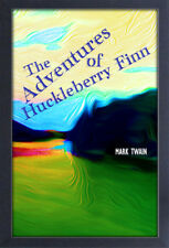 THE ADVENTURES OF HUCKLEBERRY FINN MARK TWAIN 13x19 FRAMED GELCOAT POSTER NOVEL!
