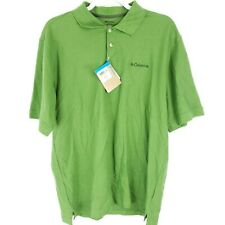 New Columbia Men's Polo M Green Ibex Ii Msrp 32.00