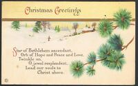Vintage Christmas Greetings Postcard Series 743B