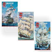 Airfix Vintage Classic Sail Ships Models Kits HMS Victory Cutty Sark Golden Hind