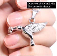 Hummingbird Cremation Jewelry Love Bird URN Necklace Memorial Keepsake Pendant