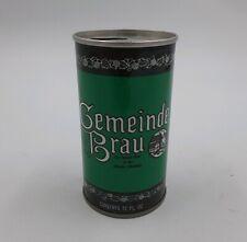 Vintage Gemeinde Brau Beer 12oz Can Pull Tab Straight Steel Cold Spring, MINN