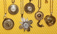 [Lot of 6] Vintage Mechanical Hand-Wind PENDANT/NECKLACE Watch SWISS MADE <VGU>