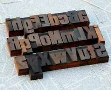 "A-Z alphabet 2.13"" letterpress wooden printing blocks wood type vintage printing"