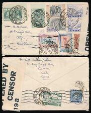 GREECE CRETE 1939 CENSORED MULTI FRANKING to SCOTLAND 11 STAMPS