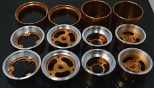 """Vintage 1.5"""" Aluminum Wheel 3 Pieces For Team Associated RC10 Gold-Dhawk Racing"""