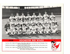 1958 ROCHESTER RED WINGS TEAM 8X10 PHOTO OLIVER KATT  BASEBALL AAA NEW YORK