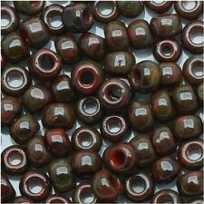 8/0 HYBRID Pepper Red Picasso Round Glass TOHO Seed Beads 10grams #Y304