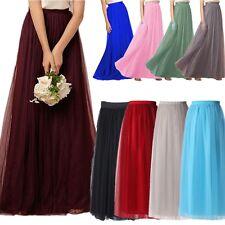 Girls Adult 80'S Long Tutu Skirts Women's Ballet Dance Petticoat Tulle Dress M L