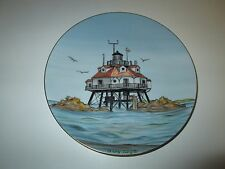 1996 Lefton'S Historic American Lighthouse Plate Thomas Point Shoal Mary Lingle