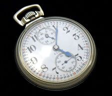M64 Elgin FATHER TIME 16s 21j Antique Railroad GF Pocket Watch w/ WIND INDICATOR