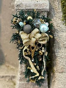 Vintage Miniature Dollhouse UK Artisan Decorative Christmas Holiday Bough Decor