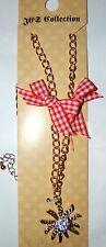 German Austrian Edelweiss Shaped Dirndl Necklace Women/Girls Oktoberfest NIB