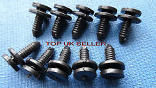 10 X PORSCHE BOXSTER BLACK TRIM PANEL INTERIOR PILLAR FASTENER CLIPS