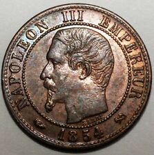 1 Centime France 1854 B rare et qualite