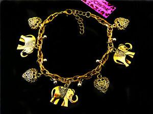 Jewelry Betsey Johnson lovely Elephant fashion chain bracelet Xmas gift
