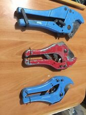 3 42mm Plastic Pipe Cutters-2 Silverline,1 Unknown