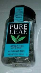 PURE LEAF GREEN TEA WITH MINT 16 PYRAMID BAGS Made in Morocco Fast shipping!