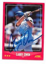 LARRY OWEN 1988 SCORE AUTOGRAPHED SIGNED # 230 ROYALS DECEASED **RARE**