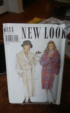 Rare New Look 6114 misses winter coat lined toggle shawl collar sz 6-24 NEW