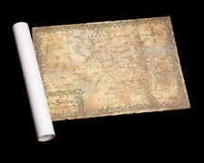 Hobbit Weta Map of the Shire Parchment Print 2nd Edition 2012 Lotr Bilbo Baggins