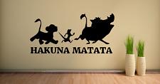 Hakuna Matata Disney Lion King Quote Wall Art Decal Sticker Q125