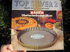 MOULE-FOND TARTE FRUITS-KAISER-Obsttortenboden ø 28 cm-DOUBLE REvÊTEMENT-NEUF