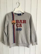 Boys grey jumper size 6-7 years 116/122  FCB BARCA FC Barcelona