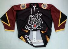 RARE SP PRO MADE IN CANADA CHICAGO WOLVES AUTHENTIC HOCKEY GAME JERSEY SIZE 48