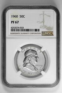 1960 50c Silver Proof Franklin Half Dollar NGC PF 67