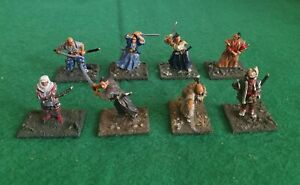 Wargames 28mm Metal Japanese Samurai Miniatures × 8 Well Painted