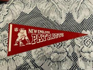"New England Patriots 1970's NFL Football Mini Pennant, 4"" x 9"" Inches,"