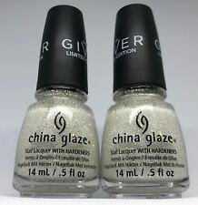 China Glaze Nail Polish THE OUTTER EDGE 1363 Snow White Glitter Topper Lacquer
