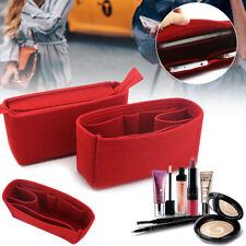 2x Red Felt Insert Purse Organizer Pack Storage Bag In Bag For Handbag Speedy