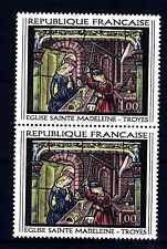 FRANCE-FRANCIA 1967 Vitrail de l'église Sainte Madeleine de Troyes, Aube MNH (F)