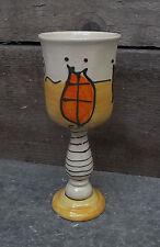Weinkelch Weinglas Wasserglas  Keramik Handarbeit in HaWe