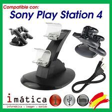 SOPORTE CARGADOR MANDO SONY PLAY STATION 4 DOS MANDOS VERTICAL BASE USB PS4 DUAL
